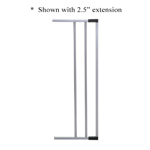 "Dreambaby 7"" Gate Extension (Fits Both Windsor & Metropolitan Gates)- Silver - 1"
