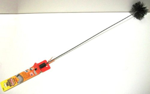 Brushtech Drill Operated Mini Snake Brush for 4-Inch Diameter Ducts