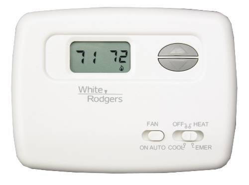 White-Rodgers 1F79-111 Digital Non-Programmable Heat Pump Thermostat With Lighte, Na