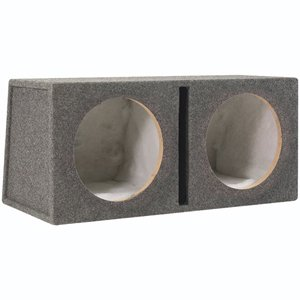 Scosche SEV122CC 12-Inch Slot Ported Dual Subwoofer Enclosure (Grey/Black)