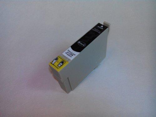 NON-OEM 1 Epson Kompatible Tintenpatrone T071, T0711 schwarz für Druker STYLUS D120, D78, D92, DX400, DX4000, DX4050, DX4400, DX4450, DX5000, DX5050, DX5500, DX6000, DX6050, DX7000F, DX7400, DX7450, DX8400, DX8450, DX9200, DX9400F, DX9400F WIFI EDITION, OFFICE B40W, OFFICE BX300F, OFFICE BX310FN, OFFICE BX510W, OFFICE BX600FW, OFFICE BX610BFW, S20, S21, SX100, SX105, SX110, SX115, SX200, SX205, SX210, SX215, SX218, SX400, SX400 WIFI, SX405, SX405 WIFI, SX410, SX415, SX417, SX510W, SX515W, SX600F
