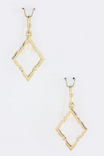 Karmas Canvas Diamond Cut Earrings (Gold) front-581764