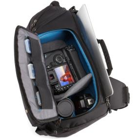 Inner compartments of the Case Logic DSS-103 Luminosity Large Sling Backpack