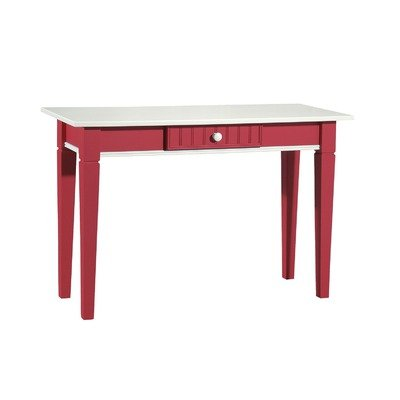 Cheap Console Table in White & Cottage Red (FS-81-RD)
