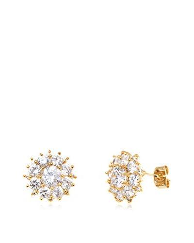 Barzel Crystal Flower Stud Earrings