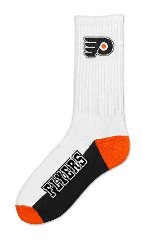 NHL Philadelphia Flyers Men's Crew Socks, Large