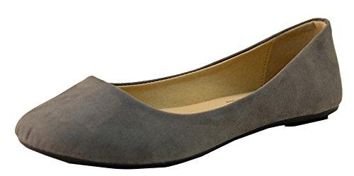 Women's Micro Suede Ballet Flats,10