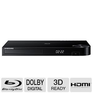 Samsung 3D Blu-ray Disc Player With Built In Wi-Fi, Full HD 1080p Playback, Apps Built-In For Streaming, Quick Start Mode, USB, Dolby True HD And DTS-HD Decoder, Plus Superior 6Ft High Speed HDMI Cable, Black Finish