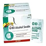 BD Alcohol Swabs 100each
