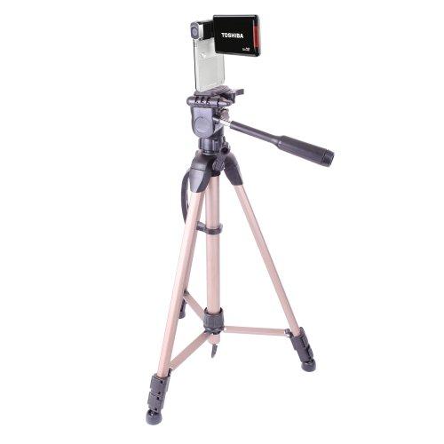 Extendable Professional Tripod For Toshiba Camileo P20 PX1687E-1CAM / Toshiba Camileo P100 Full HD Digital Video Camera 8 Mpix 16x Digital Zoom Black / Toshiba Camileo X400RD Camcorder With Carry Case Reviews