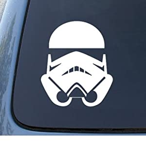 STORMTROOPER - Star Wars - Car, Truck, Notebook, Vinyl Decal Sticker #1032 | Vinyl Color: White