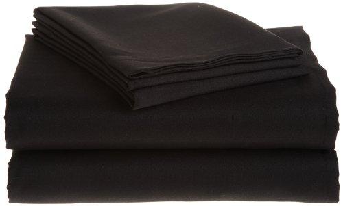 Northpoint Hotel Collection Microfiber Sheet Set, Twin, Black front-954982