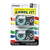 Casio Tape Cassettes For Kl Label Makers, 18Mm X 26Ft, 2/Pack