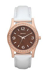 DKNY Glitz Brown Mother-of-Pearl Dial Women's Watch #NY8480