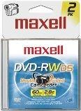 Maxell 567646 2x 2.8GB 60-Minute Mini DVD-RW Media 2-Pack