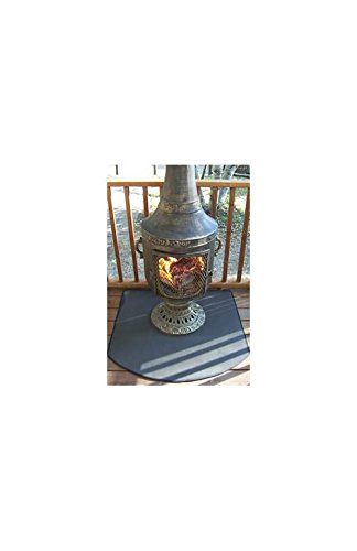 Fire-Resistant-Chiminea-Outdoor-Fireplace-Pad-Half-Round
