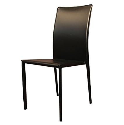 Rr Design Modern PU Chair–PVC Design Rr Kitchen Living Room Design 6Pieces black