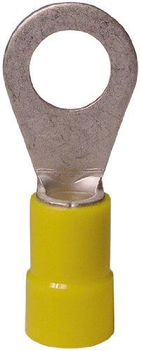 Gardner Bender 10-107 Terminal Ring, 12-10 AWG, Stud Sz 12-1/4, Yellow  (50 pk)