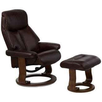 Swivel Recliner With Ottoman front-423305