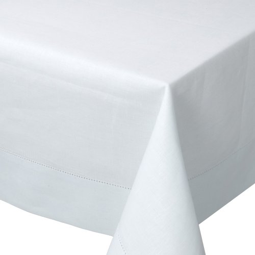 Now Designs 60 by 108-Inch Hemstitch Tablecloth, White