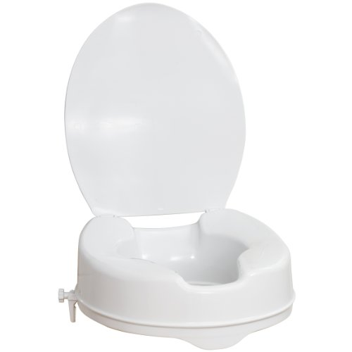 Miraculous Aquasense Raised Toilet Seat With Lid White 4 Inches Coconuas5 Theyellowbook Wood Chair Design Ideas Theyellowbookinfo