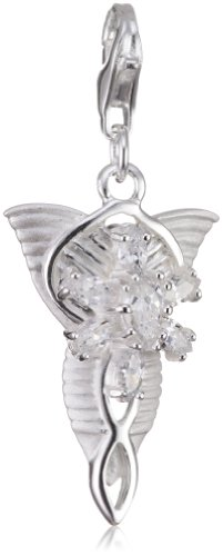 Lord Of The Rings - Arwens Charm Pendant - 925 Sterling Silver - Cubic Zirconia