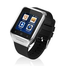 Great Asia S8 Smartphone Smart Watch Android 4.4 Mtk6572 Dual Core 1.5 Inch GPS 5.0mp Camera Wcdma (Silver)