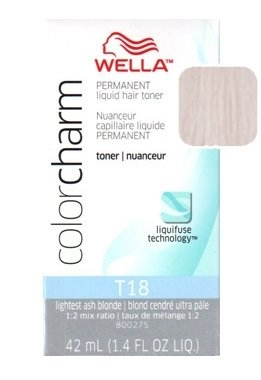 Wella Color Charm Toner - #T18 - Lightest Ash Blonde 1.4 oz. (Pack of 2)