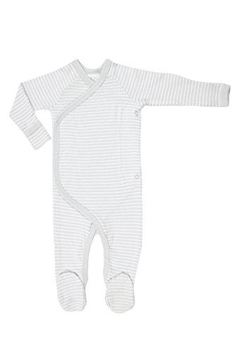 Cashew Kidswear Organic Cotton Footie Footed Sleeper Pajama (Newborn - 3 Months, Grey)
