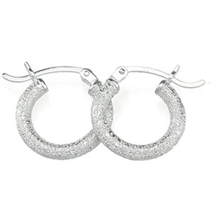 Sterling Silver Hoop Earring 2mm - JewelryWeb