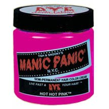 Manic Panic Hot Hot Pink Cream Formula Semi-Permanent Hair Color Dye