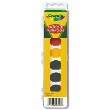 12 Pack Artista II 8-Color Watercolor Set, 8 Assorted Colors by Crayola. (Catalog Category: Paper, Pens & Desk Supplies / Art & Drafting)