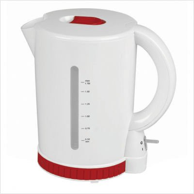 Kalorik Red Fusion Cordless Jug Kettle, White/Red