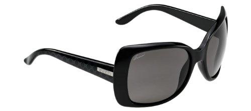 Gucci Oversize Temple Print Sunglasses in Black