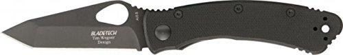 Blade Tech Katana Lite Folding Knife, Black Tanto, Textured Black Nylon Handle Bt19Bb-Pebk