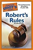 img - for The Complete Idiot's Guide to Robert's Rules 2nd (second) edition book / textbook / text book