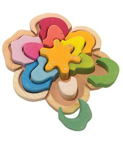 Picture of Kathe Kruse wooden flower puzzle (B001QDMGEI) (Floor Puzzles)