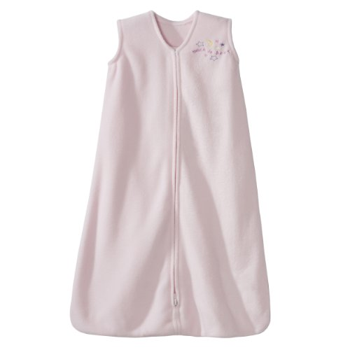 HALO SleepSack Micro-Fleece Wearable Blanket, Soft Pink, Medium