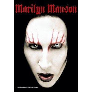 Marilyn Manson Poster banidera Head Shot Poster Flag bandiera in tessuto 75 x 110 cm