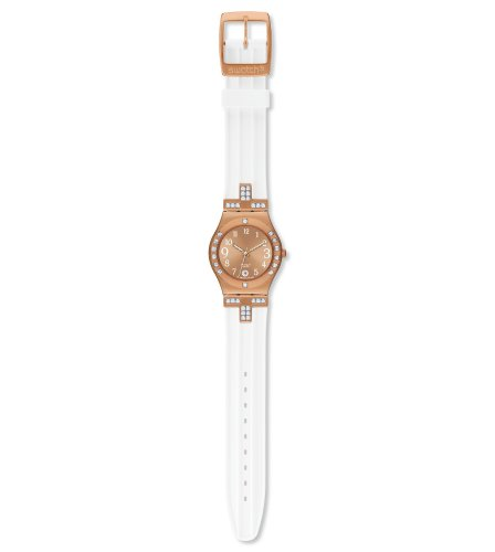 swatch Women's YLG403 Quartz Stainless Steel Date Measures Seconds Watch