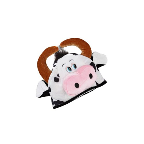 Storybook Wishes Brown & Black Plush Cow Hat - 1