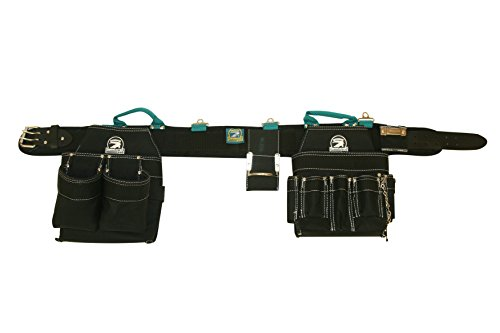 Contractor Pro Professional Electrician's Tool Belt Combo w/ Padded Comfort Belt (3X-large 50-55 Inch Waist). Ventilated Comfort Belt with Heavy Duty Pouches for Electricians, Carpenters, Hvac, Drywaller. Tool Belt By Gatorback (Hvac Tool Belt compare prices)
