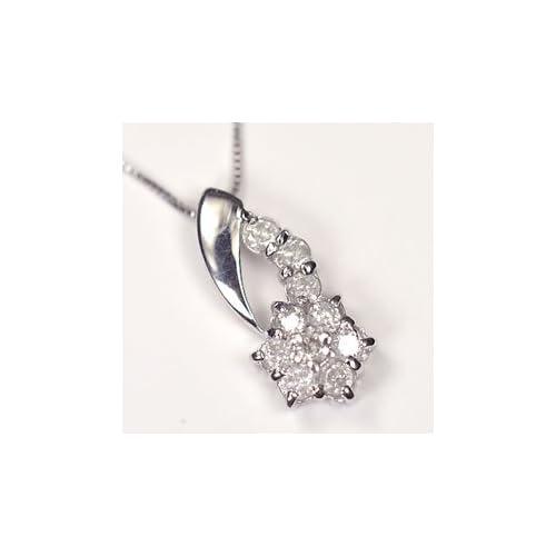 [キュートジュエリー]Cute jewerly ダイヤモンド ペンダント ネックレス 天然ダイヤ0.3ct×ホワイトゴールド スウィートフラワーペンダント 【ギフトラッピング済み】