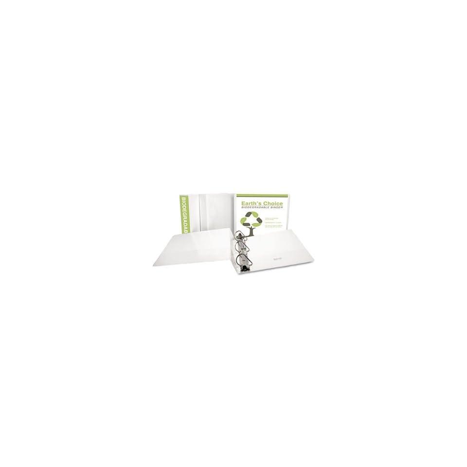 Samsill 3-Inch Non-stick D-Ring View Binder Black 16480