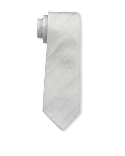 Valentino Men's Striped Tie, Silver