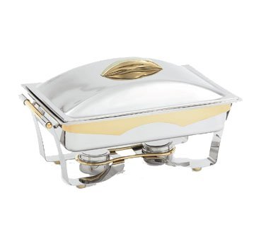 Vollrath 48322 Panacea S/S 9 Qt. Chafer with Gold Trim