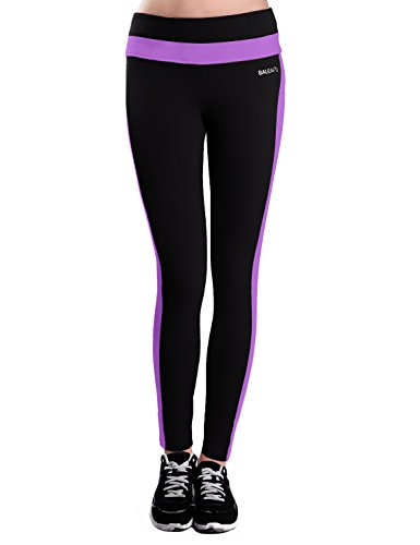 Baleaf Women's Yoga Active Ankle Legging Hidden Pocket Dewberry Size M