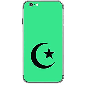 """Skin4gadgets Islam Symbol """"Crescent Moon and Star"""" on English Pastel Color-Turquiose Green Phone Skin for IPHONE 6"""