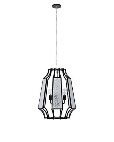 Varaluz Go-Go 3-Light Medium Pendant With Line Up Glass, Black