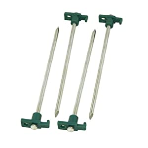10-In. Steel Nail Tent Pegs